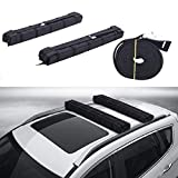 Orion Motor Tech 34 Inch Universal Car Soft Roof Rack Pad, with Adjustable and Substantial Straps, for Surfboard Kayak Luggage Carrier Paddle Board, Load 165.3lbs