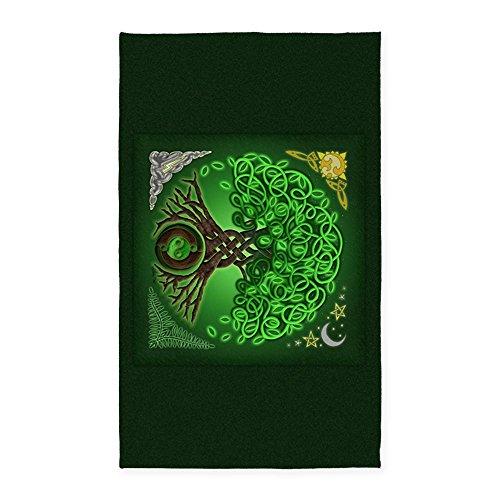 (CafePress Circle Celtic Tree of Life 3'X5' Decorative Area Rug, Fabric Throw Rug)