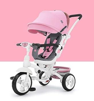QIAOXC Carro de bebé Plegable Triciclo de dirección/Carro de bebé/Bicicleta Infantil Carro de bebé, 1-6 años (Color : Pink): Amazon.es: Hogar