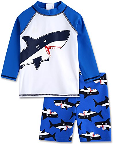 Vaenait baby 2T-7T Infant Boys Rashguard Swimsuit Big Jaws M - Toddler Boys Swimsuit