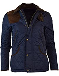 Womens Nylon Suede Quilted Jacket
