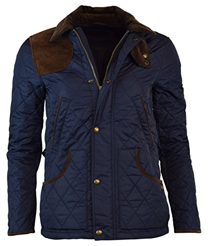 Polo Ralph Lauren Womens Nylon Suede Quilted Jacket - XS - Aviator Navy