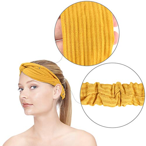 3 otters Women\'s Headbands, 8PCS Fashion Headbands for Women Cloth Headband Boho Stretchy Hair Bands, Hair Accessories