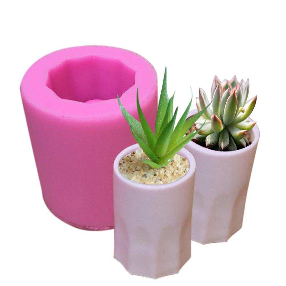 big-time Succulent Plants Pot Mold Silicone Bonsai Flower Pot Decoration Mold DIY Clay Resin Craft Molds Crystal Glue Gypsum Mold for Handmade Candy//Chocolate//Ice//Soap,Color Random