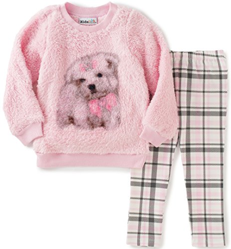 Kids Headquarters Baby Faux Fur Tunic with Leggings Set, Pink, 18 Months