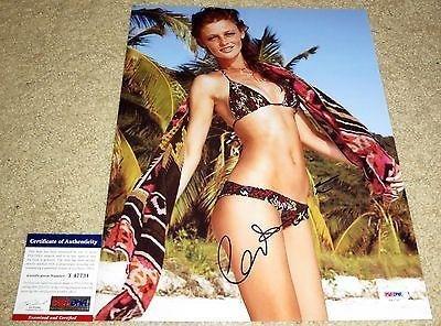 Hot Cintia Dicker Signed 11X14 Sports Illustrated Swimsuit Issue Bikin