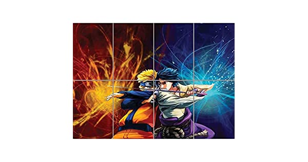 Amazon.com: Póster gigante impreso de Naruto vs ...