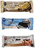 Quest Nutrition Protein Bar Variety Pack, Including Smores, Cookies & Cream & Chocolate Chip Cookie Dough, Pack of 12, 4 of 2.12 oz Each