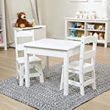 Melissa & Doug Solid Wood Table & Chairs (Sturdy Wooden Construction, 100-Pound Capacity, Easy to Assemble, 3-Piece Set, 20' W x 23.5' H x 20.5' L)