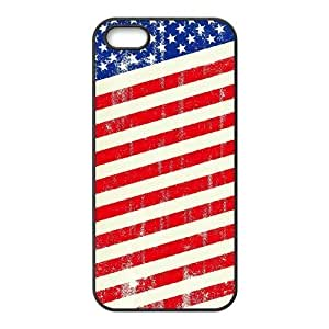 ALICASE Diy Customized Hard Case American Retro Flag for iPhone 5,5S [Pattern-1]