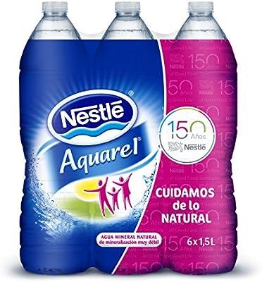Nestlé Aquarel - 6 x 1,5 L Botella Agua Mineral Natural: Amazon.es: Alimentación y bebidas