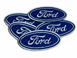 iron on company logo - Ford Logo Patches Motorsports Limited 5pcs Embroidered Patch SIZE : 1.5 x 3.5 INCHES