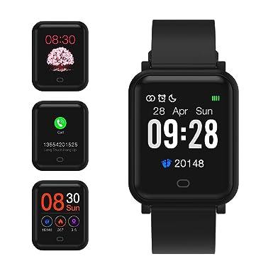 Fitpolo Reloj Inteligente Hombres,Smart watch Mujeres Rastreador de ejercicios a prueba de agua IP68 con monitor de sueño,Contador de calorías por ...