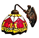 Amora Lighting AM111WL08 Tiffany Style Wall Lamp 8 In Wide