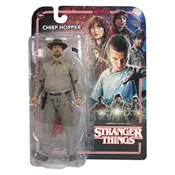 Chief Jim Hopper Action Figure From Stranger Things 7 Inch Sheriff Outfit