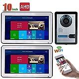 JINPENGPEN 10 inch WiFi Intelligent Video intercom Access Control System HD 1000TVL with AHD 720P Wired IR-Cut Camera