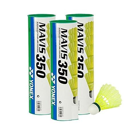 green//slow Yonex Mavis 350 Badmintonball gelb 5X6=30 St/ück Nylonshuttle Farbe