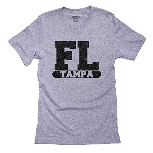 Hollywood Thread Tampa, Florida FL Classic City State Sign Men's T-Shirt (Map Of Tampa Florida And Surrounding Area)