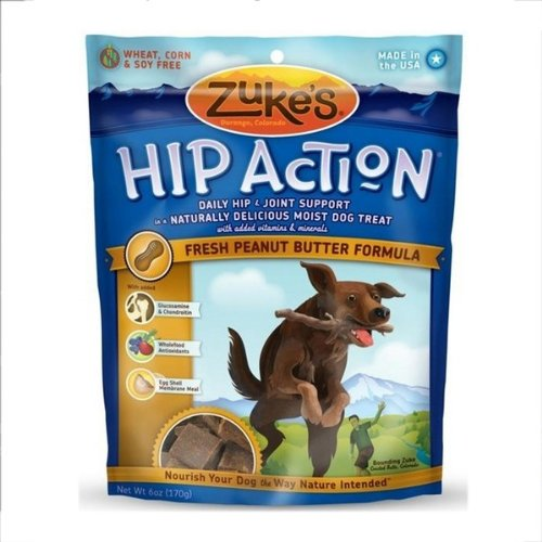 Zukes Hip Action for Dogs - Peanut Butter 6 Oz.