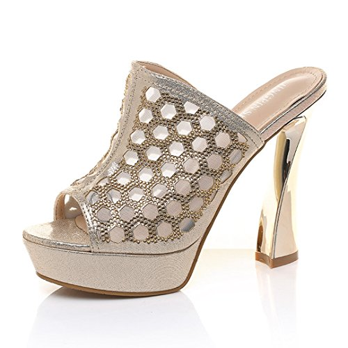 Women's Heeled Sandals Dress Sandals Stilettos Open Toe High Heel for Wedding Party Evening Shoes