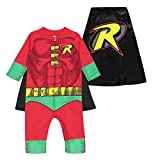 Warner Bros. Justice League Robin Baby Boys' Zip-Up Caped Costume Coverall (18 Months)