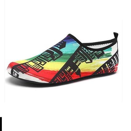 NAN Zapatos de deportes acuáticos Calcetines descalzos Aqua Piscina Playa Swim ejercicio para mujeres y hombres
