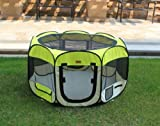 New Medium Yellow Pet Dog Cat Tent Playpen Exercise Play Pen Soft Crate