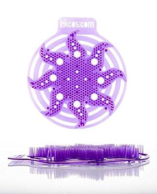 "Diversey power screen 30 Day Premium Anti-Splash Urinal Screen and Deodorizer - Fits Most Top Urinal Brands, 8"" x 7"" Purple/Lavender (10 Pack)"