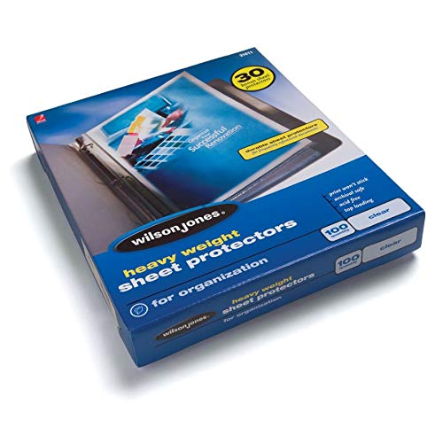 (Wilson Jones 21411 Heavy Weight Sheet Protector Clear Finish Clear 100/Bx)