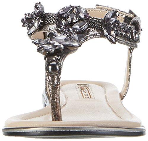 Buffalo Ladies 14s07-21 Metallic Toe Separator Grigio (peltro 01)