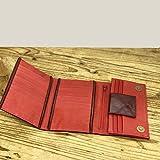 Burgundy Red wallet Handmade Leather purse trifold Women billfold organizer Designers accessories