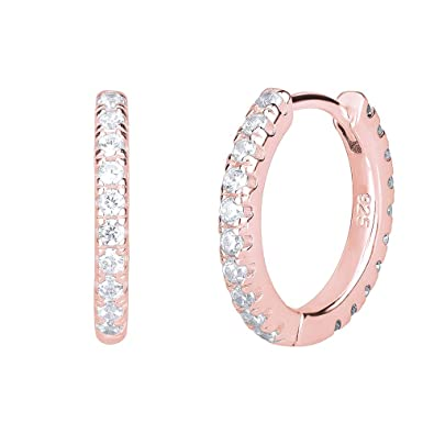 First Communion Baptise Gift for Girl Idea Gold Plated Hoop Huggies earrings