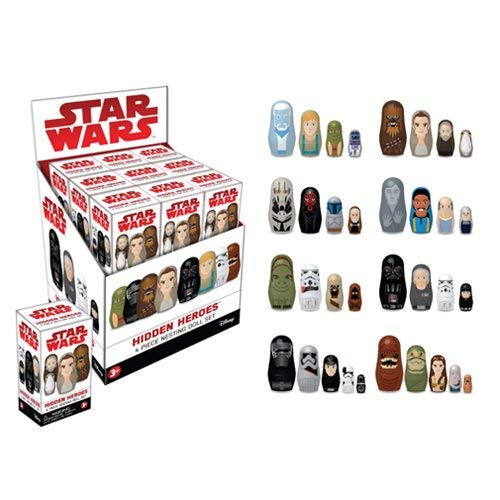 Star Wars Hidden Heroes Nesting Dolls Blind Box 6-Pack