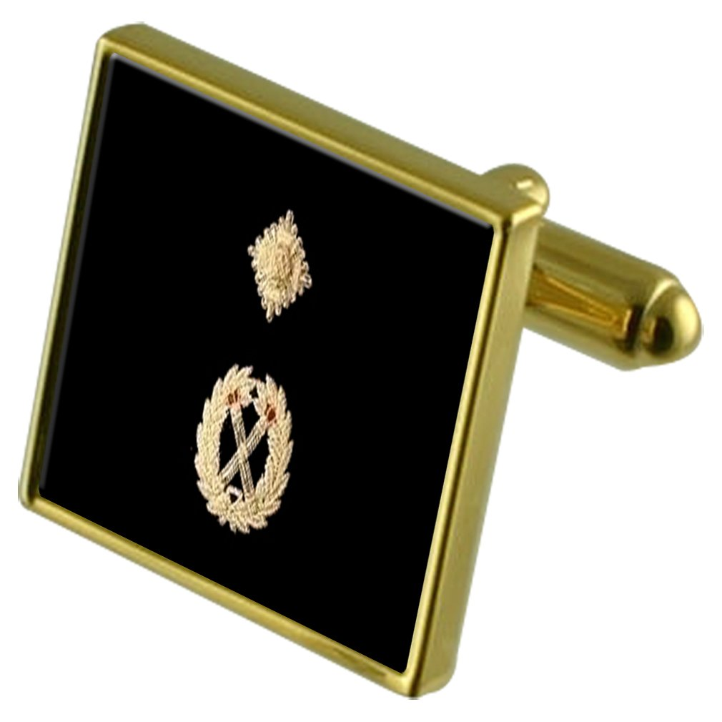 Select Gifts Police Dupty Chief Constable Gold-Tone Cufflinks in Pouch