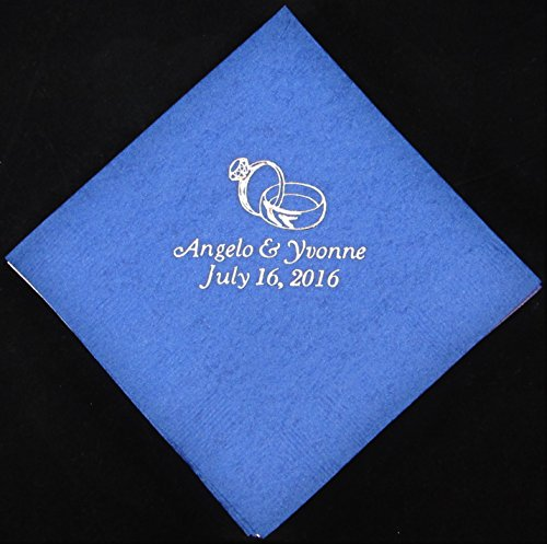 (Presents Forever 50 personalized beverage napkins wedding favors)