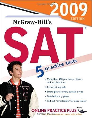 McGraw-Hills SAT, 2009 Edition (Mcgraw Hills Sat)