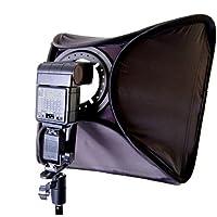 Foto /video CowboyStudio Softbox grande con flash Speedlite de 24 pulgadas con soporte en L, soporte para zapatos y estuche