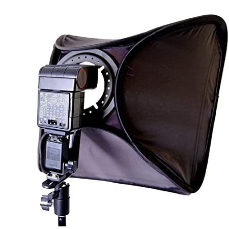 Photo / Video 24' Large Speedlite Flash Softbox with L-Bracket, Shoe Mount & Carry Case Cowboy Studio 24inch speedlite