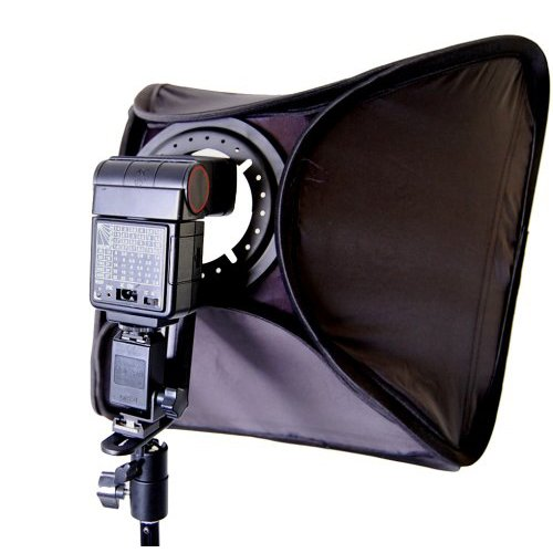 CowboyStudio Photo/Video 24in Large Speedlite Flash Softbox with L-Bracket, Shoe Mount and Carry (Case Shoe Mount Flash)