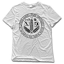 ESSES North Dakota State University Seal Mens Crew Neck T-Shirt White L