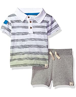 Boys' Sleeve Organic Polo Tee and Short Set