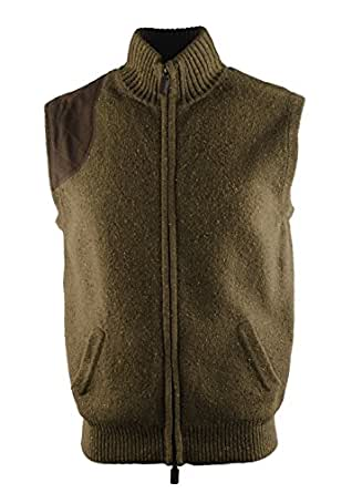 f903e92e9c CREMIEUX Royal Country Men's Full Zip Sweater Vest, Green, S at ...