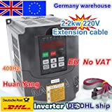 Davitu Inverters & Converters - 2.2KW 3HP 220V Inverters & Converters Variable Frequency Drive VFD Inverter VSD Speed Control for CNC Router