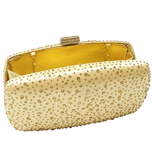 Diamond Handbags Purse Women Clutch Gold Bag Minaudiere Evening rvtwq8Ev