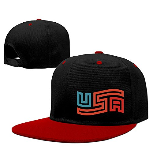 USA Two-Toned Snapback Hats One Size