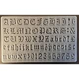 Cox 20 mm old English lettering letters stencils Upper & lower case Numbers P-1596 by Cox