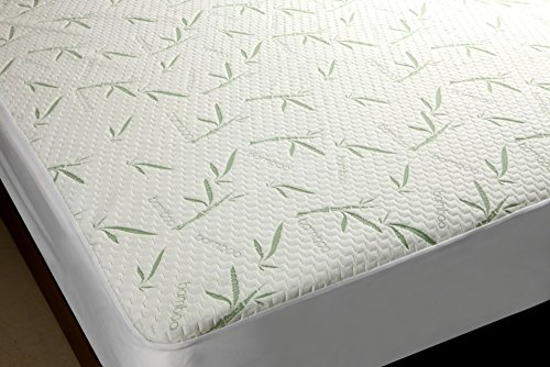 Mezzati Bamboo Premium Plush Mattress Protector - Soft, Quiet, Comfortable topper, cover - Hypoallergenic, Deep Fitted Pocket (Full)
