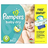 Pampers Baby Dry Diapers Size-6 Super Pack, 64-Count- Packaging May Vary
