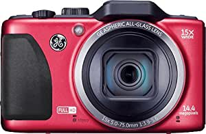 General Imaging Full-HD Digital Camera with 14.4MP, CMOS, 15X Optical Zoom, 28mm Wide Angle Lens, 3-Inch LCD and HDMI (Red) G100-RD
