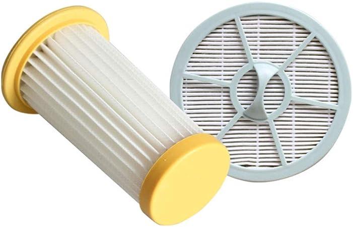 KingBra Hepa filtro de malla y aire HEAP filtro de aspiradora accesorios 2 piezas de repuesto para Philip FC8262 FC8261 FC8260 FC8264 (2 unidades, amarillo y gris): Amazon.es: Hogar